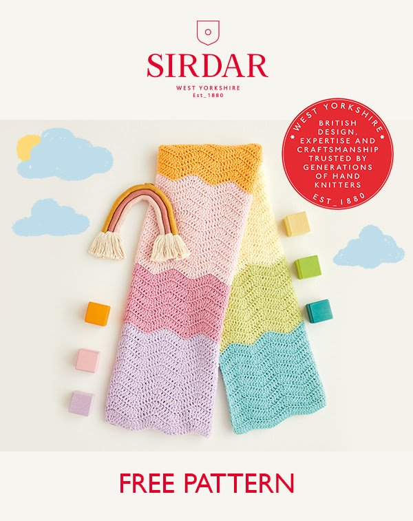 Rainbow Wave Blanket – Crochet